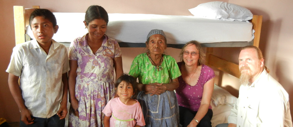 Guatemala - 105 year old Sofia in her new house